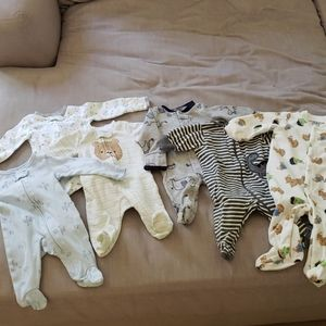 Lot of 6 EXCELLENT COND Boys Jammies Pajamas